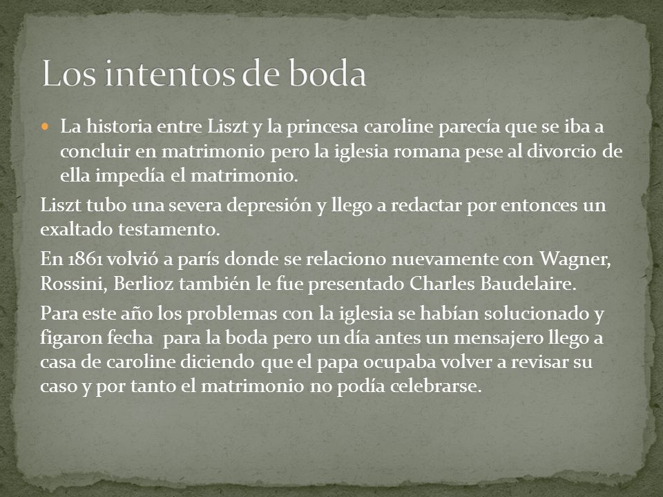 Los intentos de boda