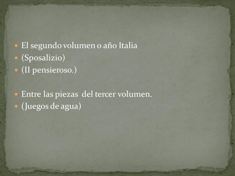 El segundo volumen o año Italia