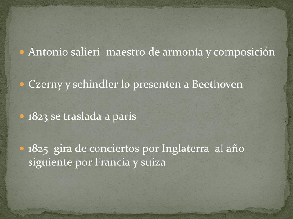 Antonio salieri maestro de armonía y composición