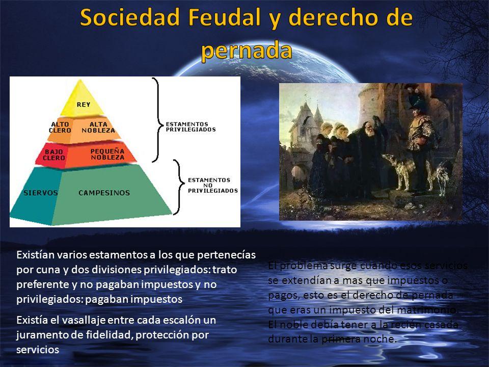 Sociedad Feudal y derecho de pernada