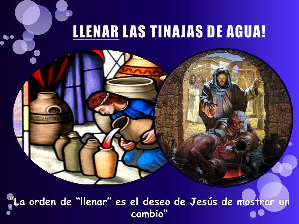 LLENAR LAS TINAJAS DE AGUA!