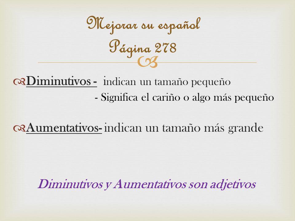 Mejorar su español Página 278