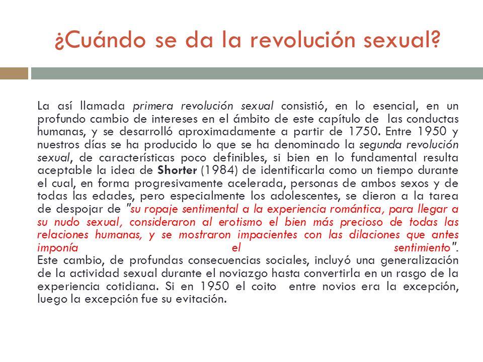 ¿Cuándo se da la revolución sexual