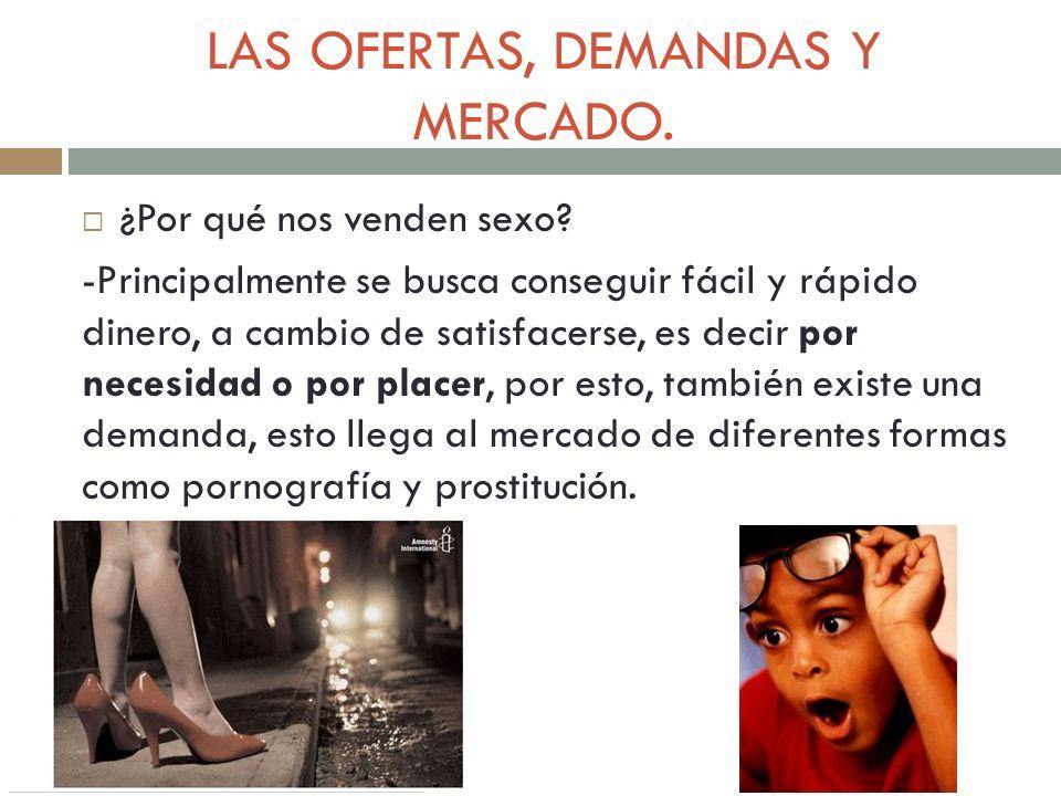 LAS OFERTAS, DEMANDAS Y MERCADO.