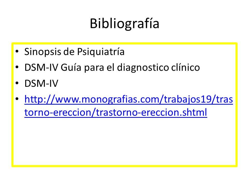 Bibliografía Sinopsis de Psiquiatría