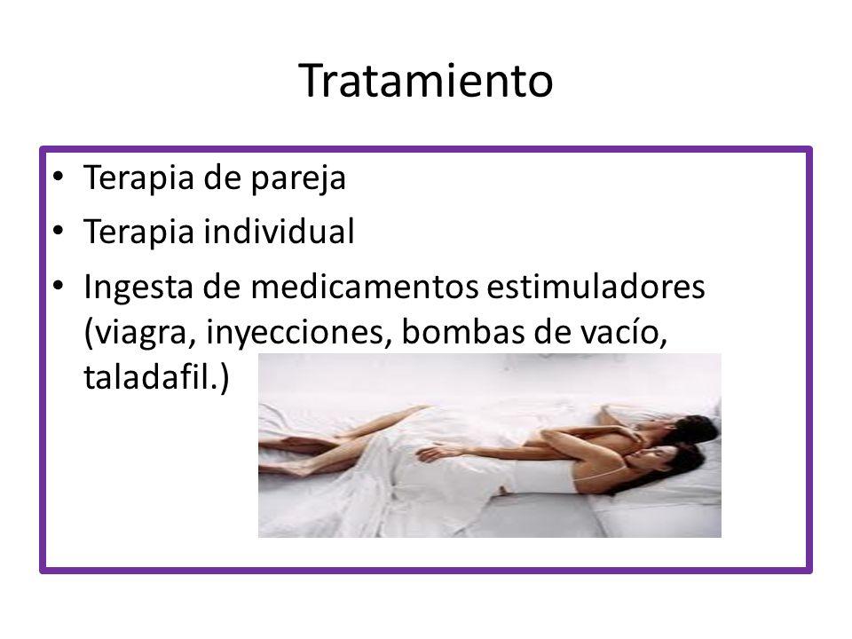 Tratamiento Terapia de pareja Terapia individual