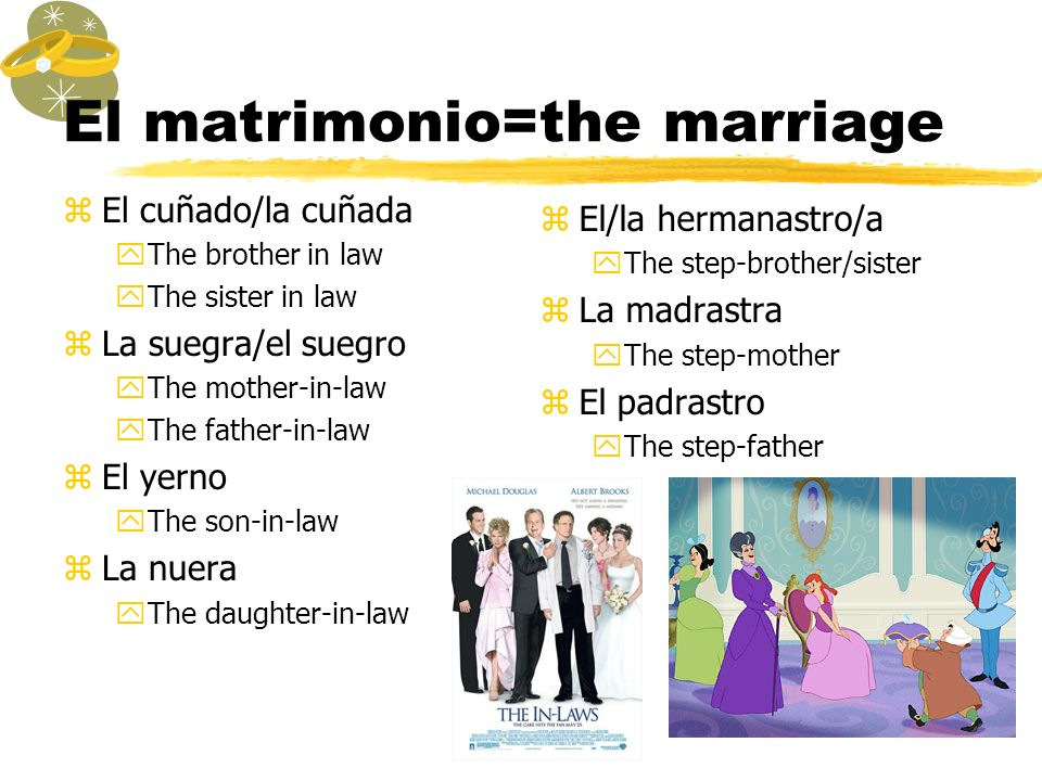 El matrimonio=the marriage