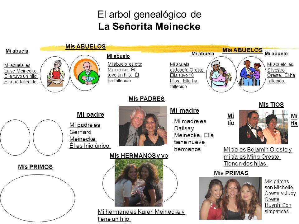 El arbol genealógico de La Señorita Meinecke