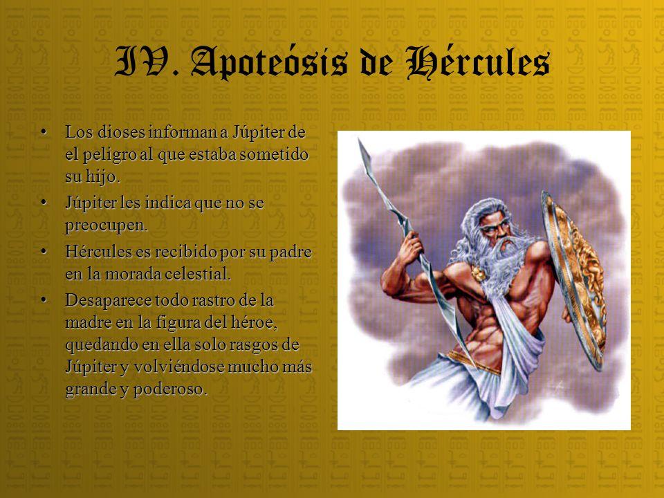 IV. Apoteósis de Hércules