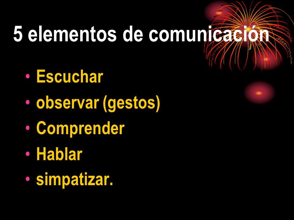 5 elementos de comunicación