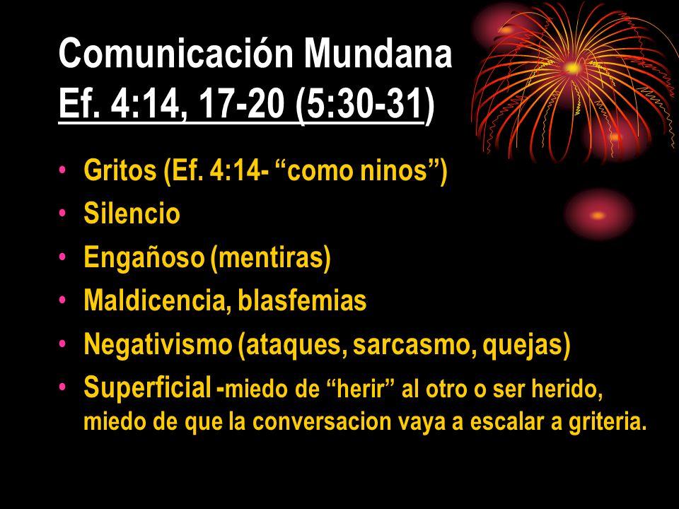 Comunicación Mundana Ef. 4:14, 17-20 (5:30-31)