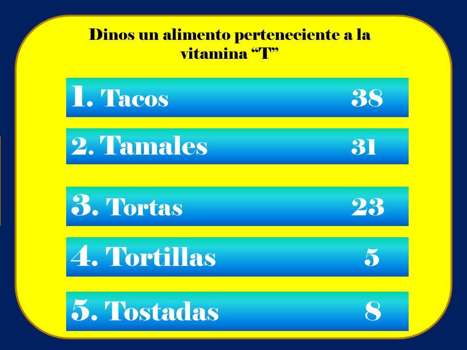 Dinos un alimento perteneciente a la vitamina T