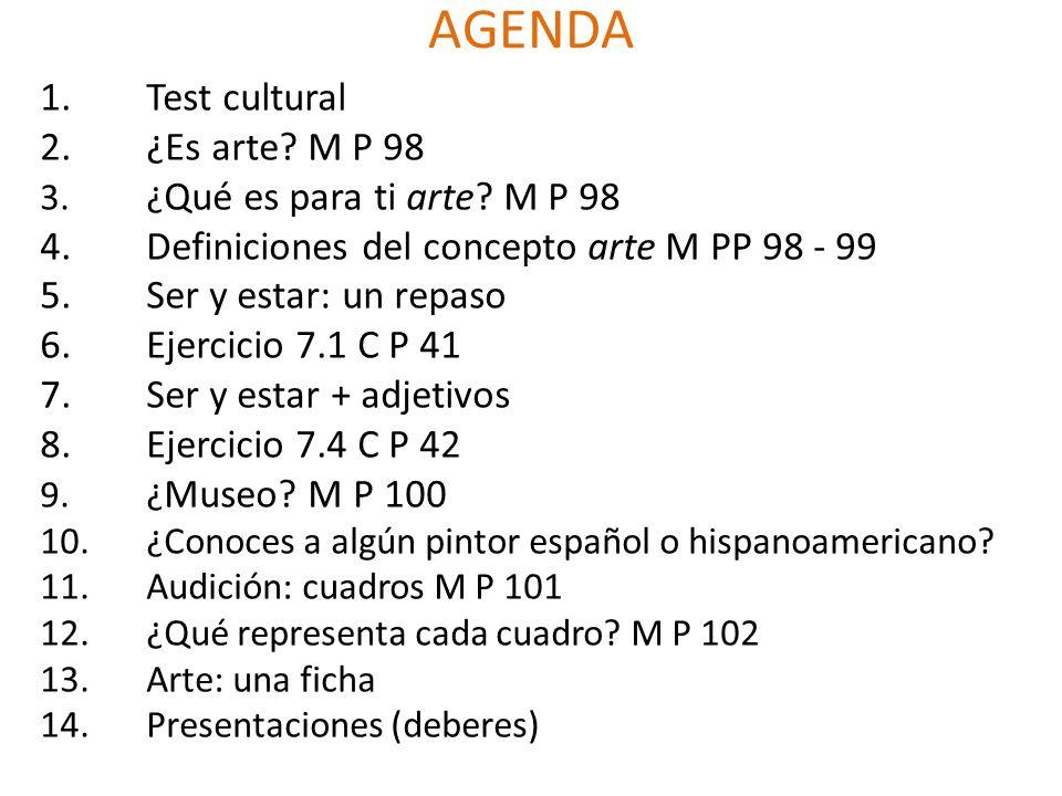 AGENDA Test cultural ¿Es arte M P 98