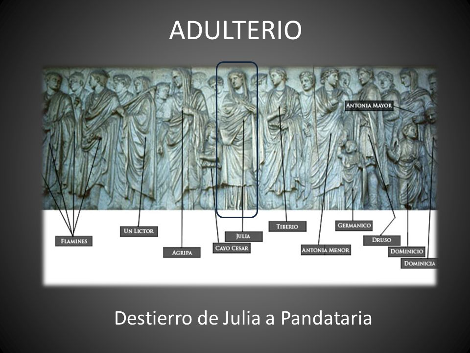 ADULTERIO Destierro de Julia a Pandataria