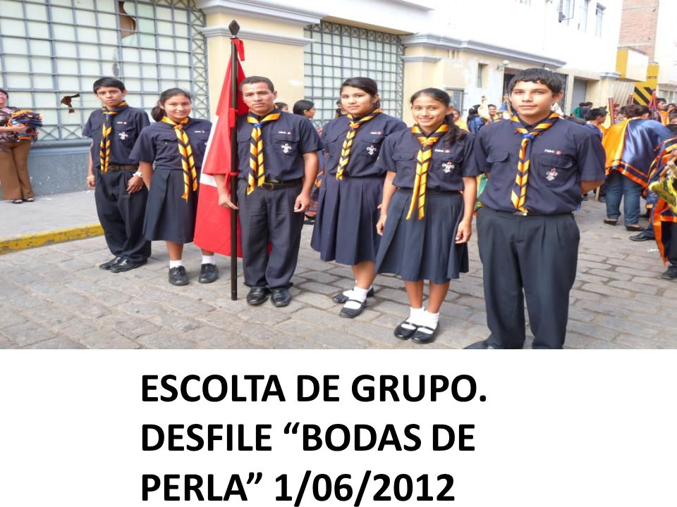 ESCOLTA DE GRUPO. DESFILE BODAS DE PERLA 1/06/2012