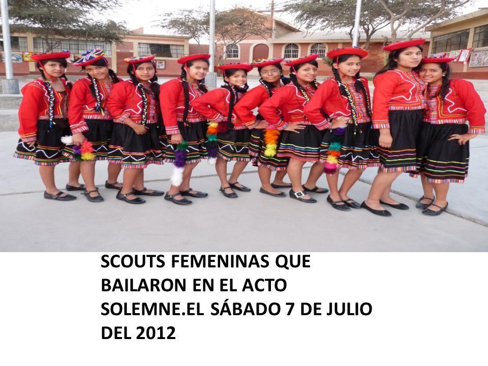 SCOUTS FEMENINAS QUE BAILARON EN EL ACTO SOLEMNE