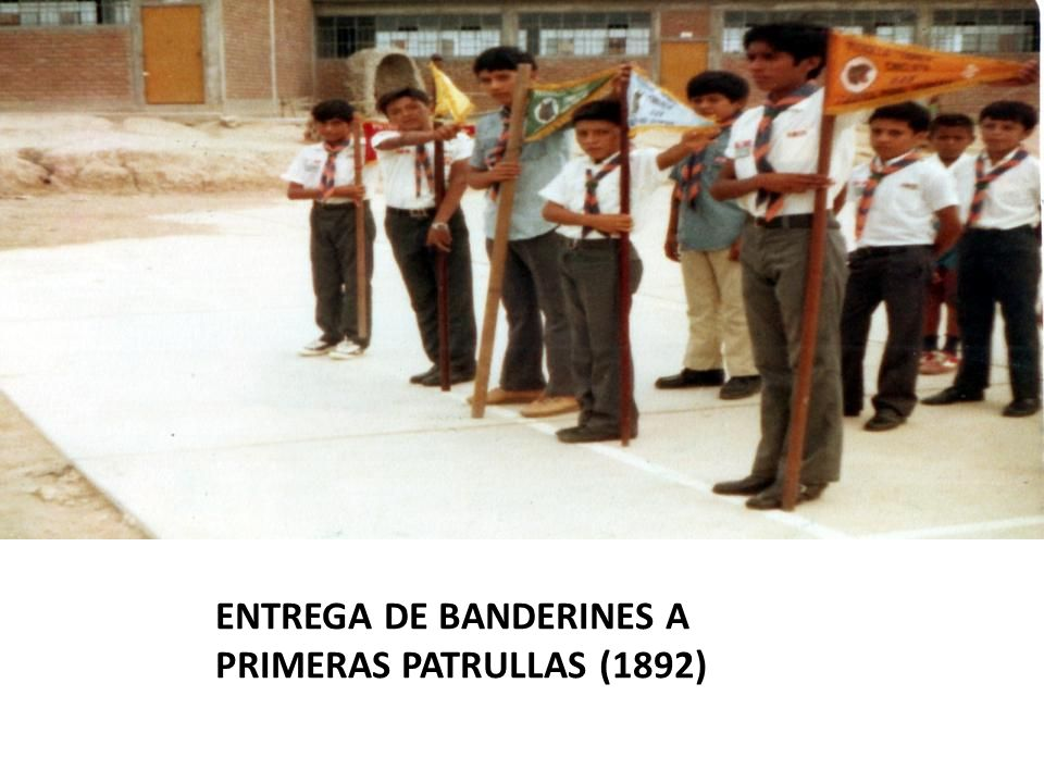 ENTREGA DE BANDERINES A PRIMERAS PATRULLAS (1892)
