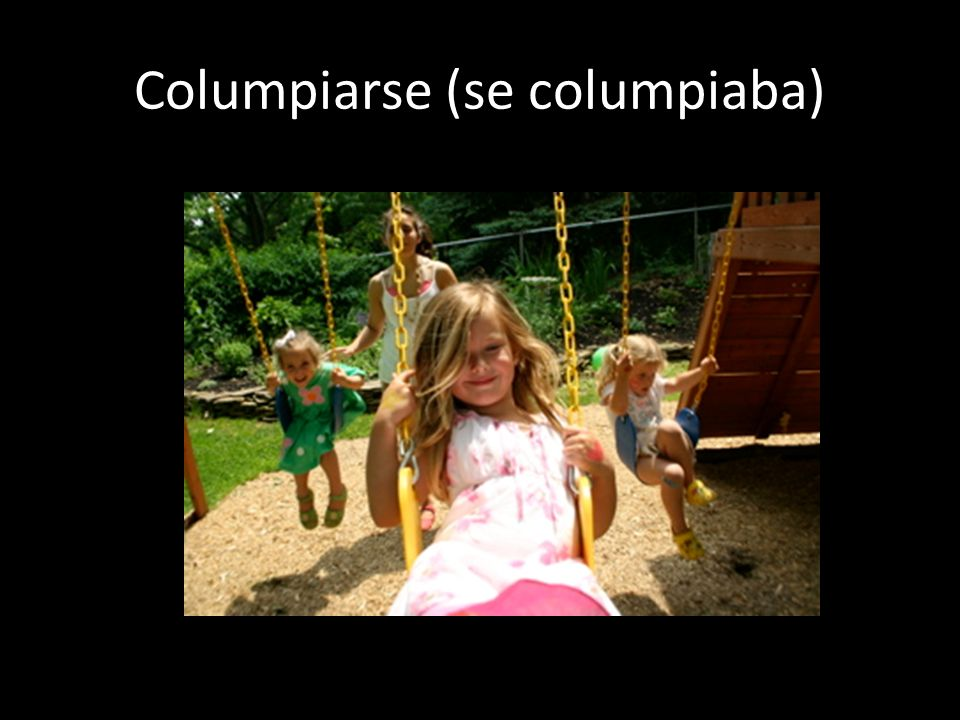 Columpiarse (se columpiaba)