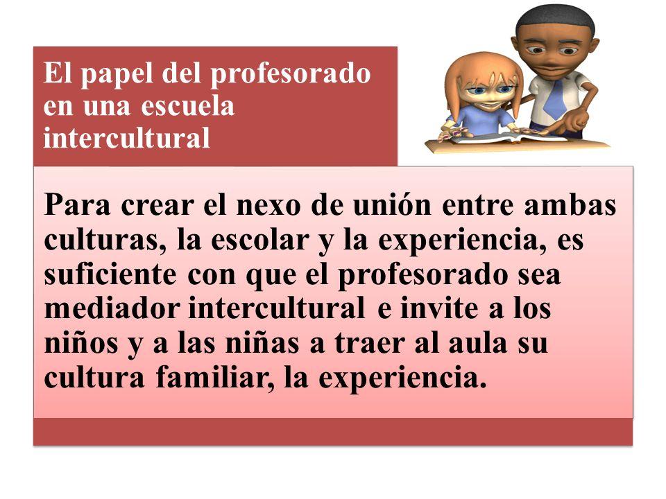El papel del profesorado en una escuela intercultural