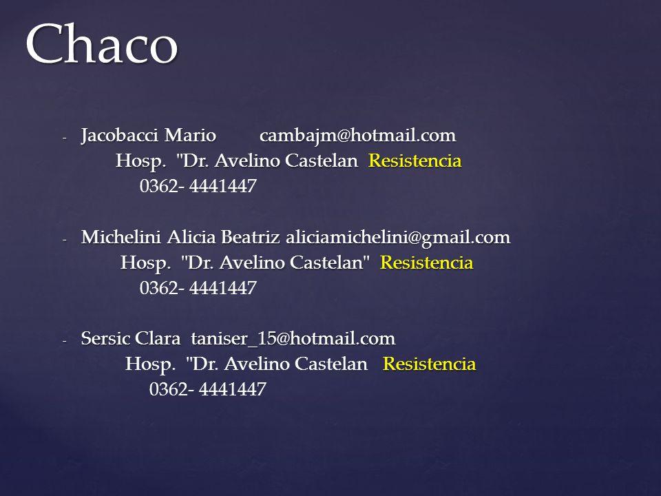 Chaco Jacobacci Mario cambajm@hotmail.com