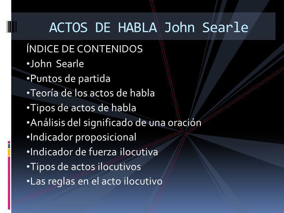 ACTOS DE HABLA John Searle