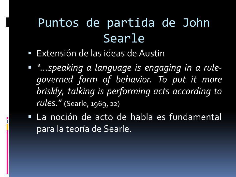 Puntos de partida de John Searle