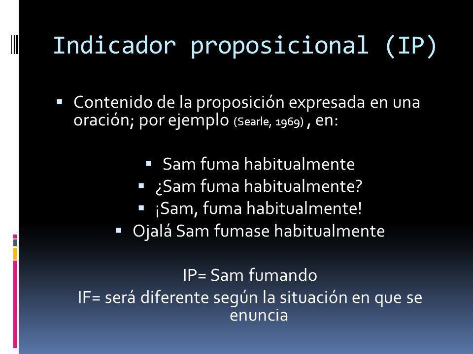 Indicador proposicional (IP)