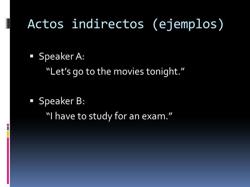 Actos indirectos (ejemplos)