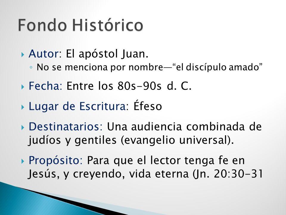 Fondo Histórico Autor: El apóstol Juan. Fecha: Entre los 80s-90s d. C.