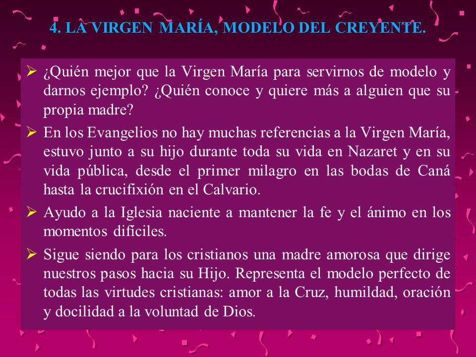 4. LA VIRGEN MARÍA, MODELO DEL CREYENTE.