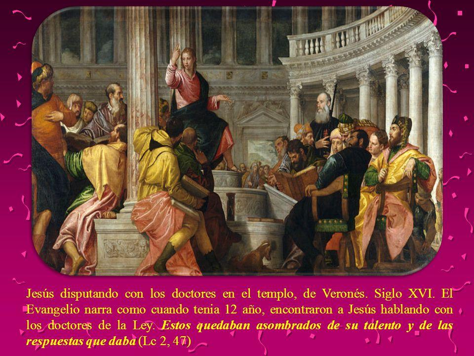 Jesús disputando con los doctores en el templo, de Veronés. Siglo XVI