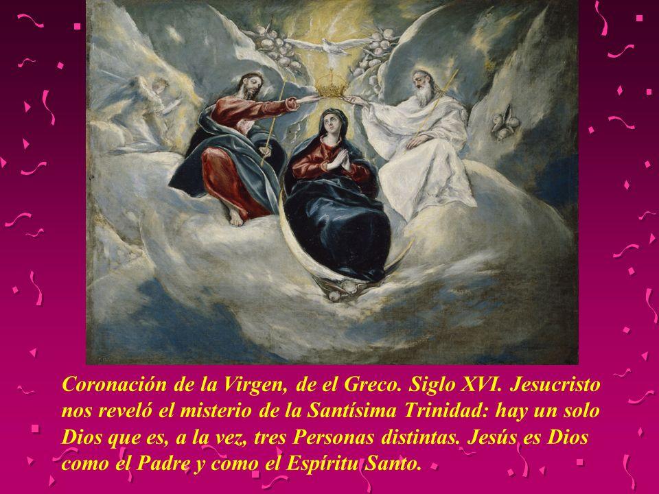 Coronación de la Virgen, de el Greco. Siglo XVI