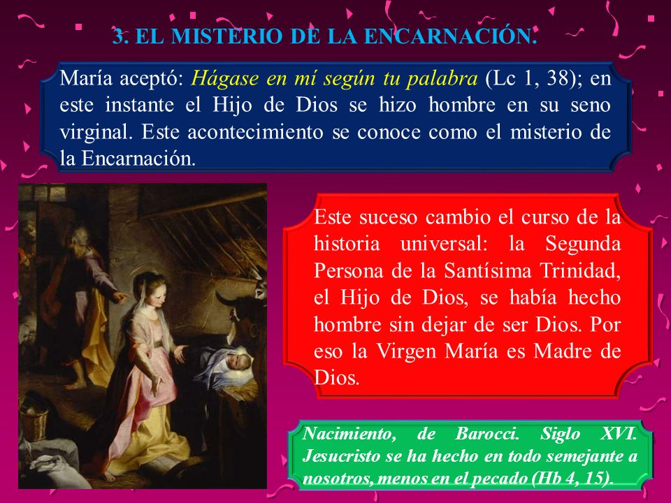 3. EL MISTERIO DE LA ENCARNACIÓN.