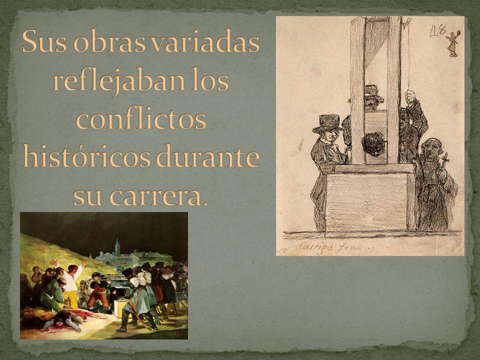 Sus obras variadas reflejaban los conflictos históricos durante su carrera.