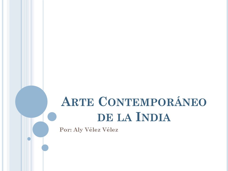 Arte Contemporáneo de la India