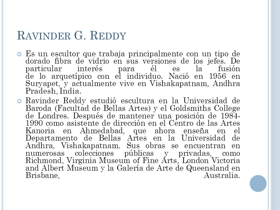 Ravinder G. Reddy