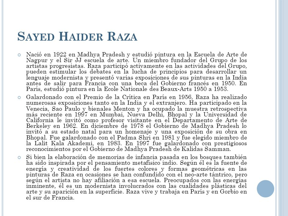 Sayed Haider Raza