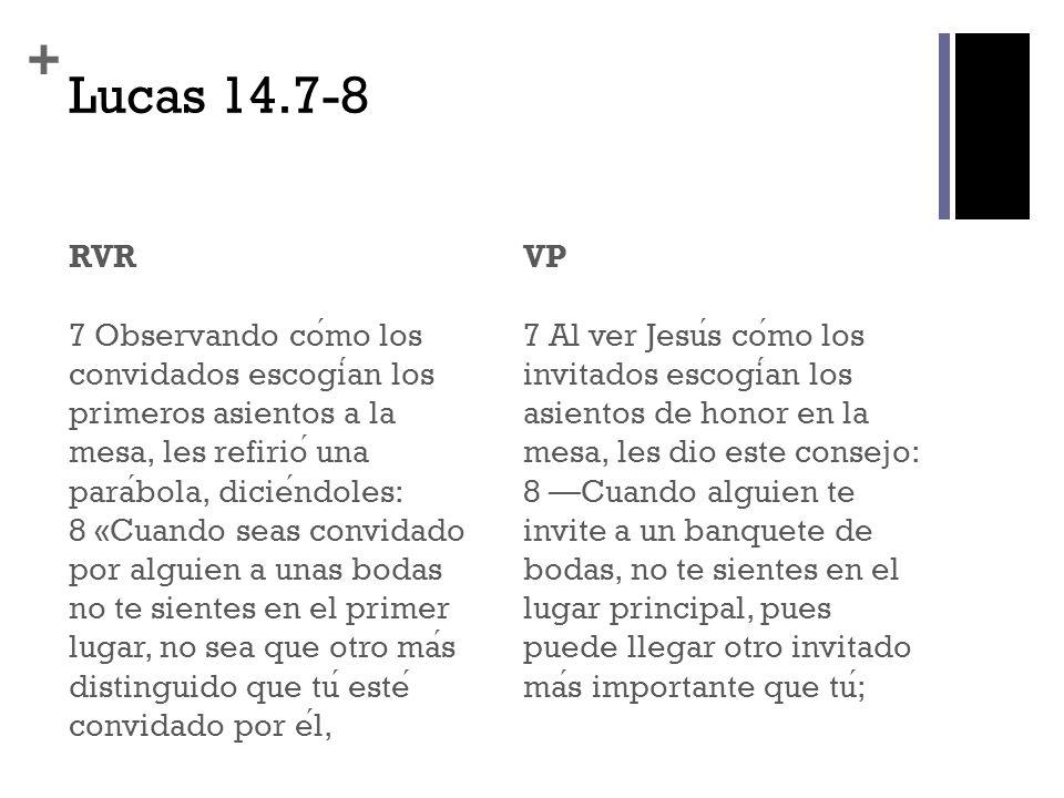 Lucas 14.7-8