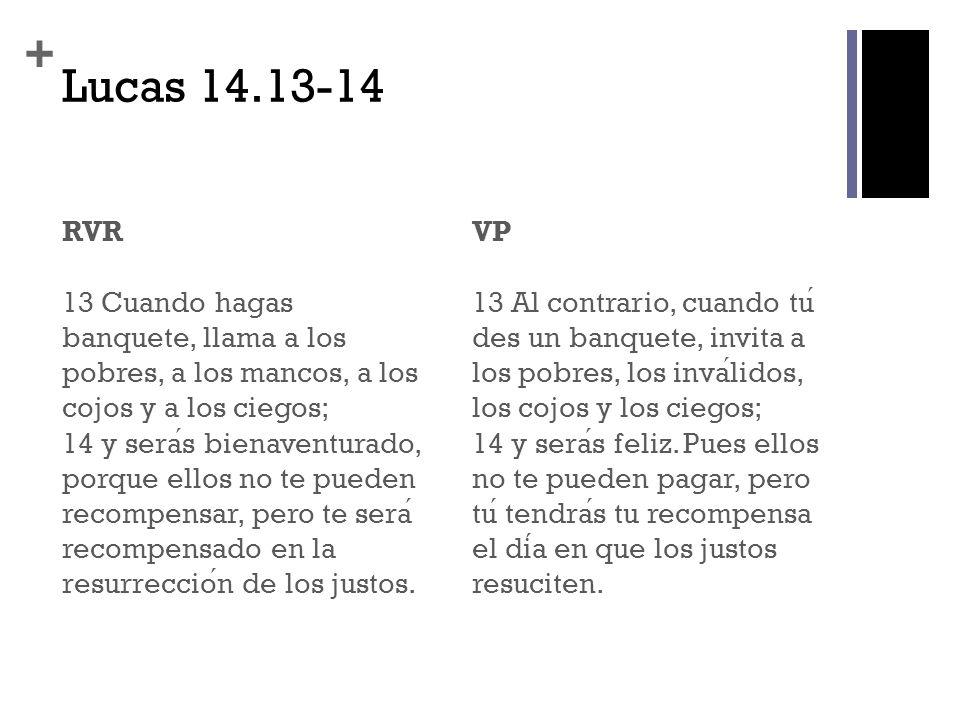 Lucas 14.13-14