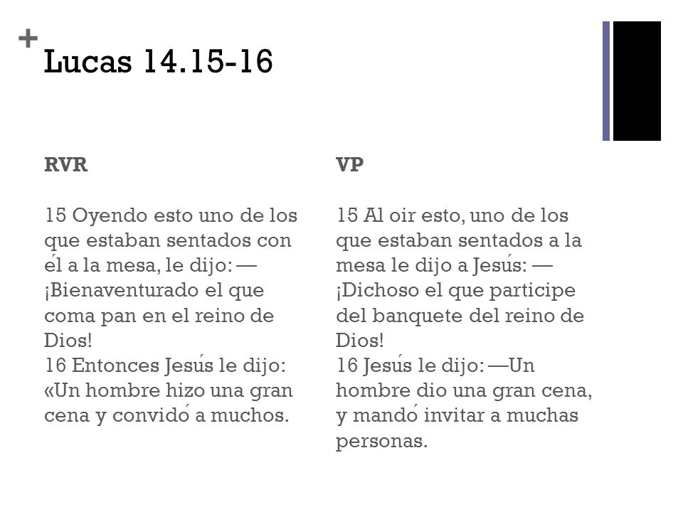 Lucas 14.15-16