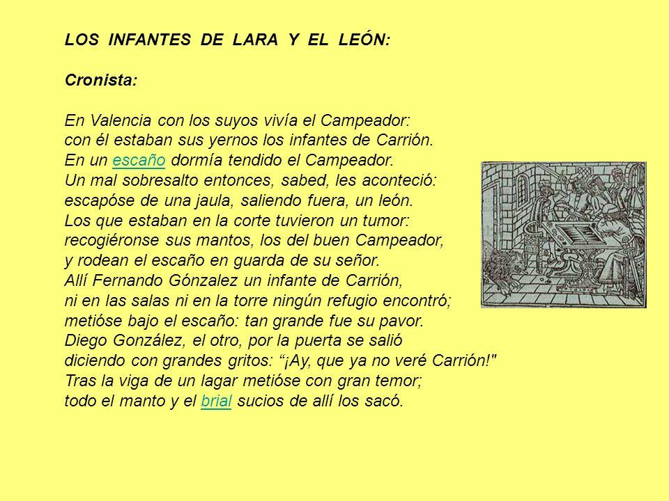 LOS INFANTES DE LARA Y EL LEÓN: