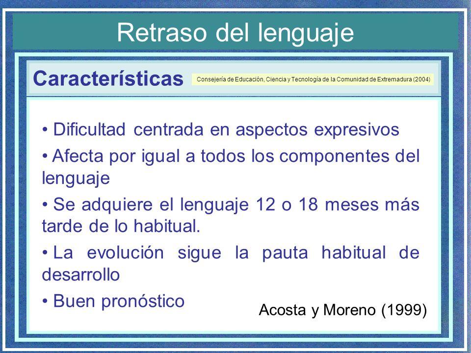Retraso del lenguaje Características