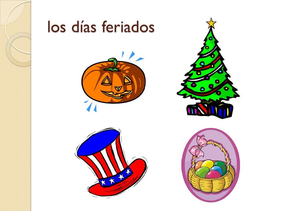 los días feriados