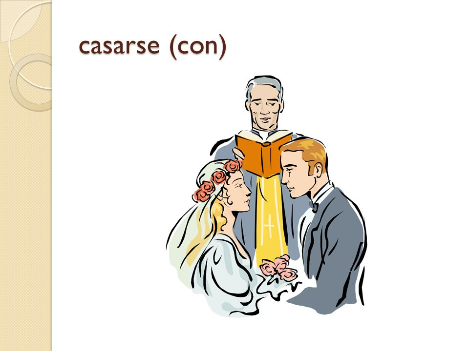 casarse (con)