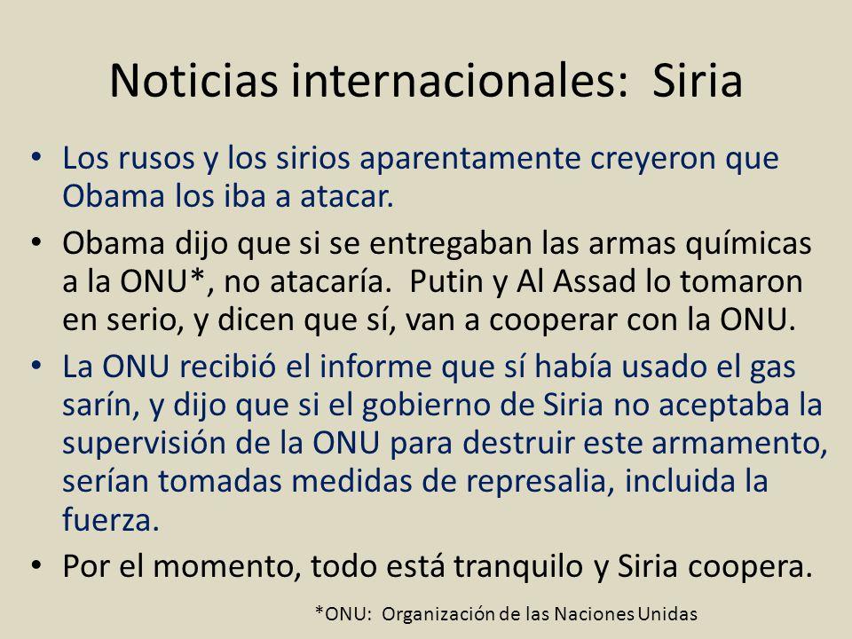 Noticias internacionales: Siria