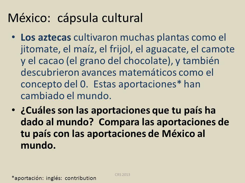 México: cápsula cultural