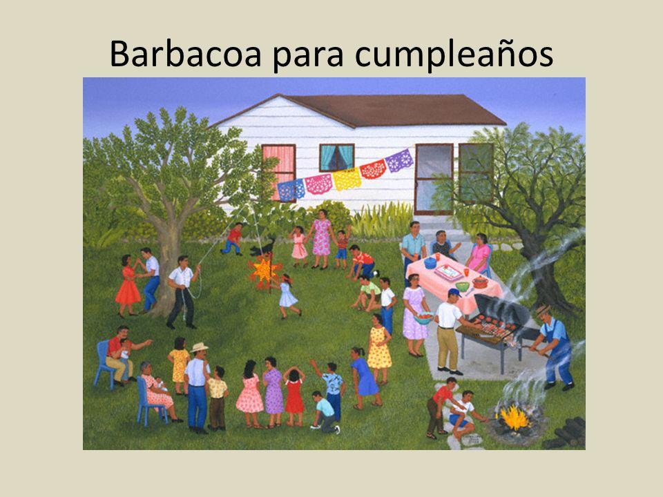 Barbacoa para cumpleaños