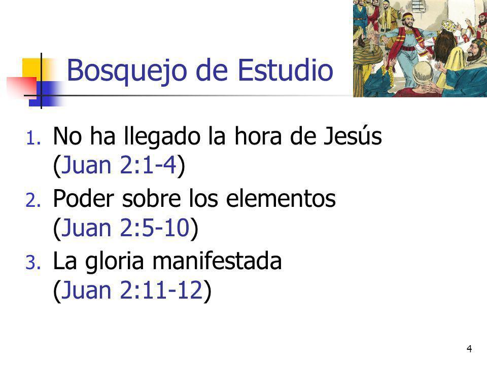 Bosquejo de Estudio No ha llegado la hora de Jesús (Juan 2:1-4)