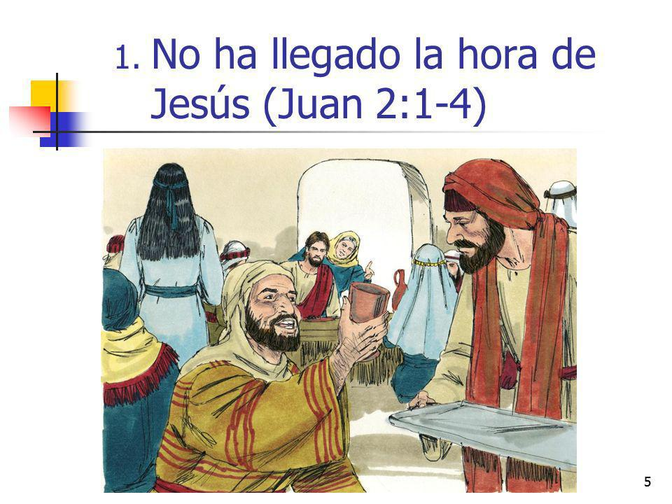 No ha llegado la hora de Jesús (Juan 2:1-4)