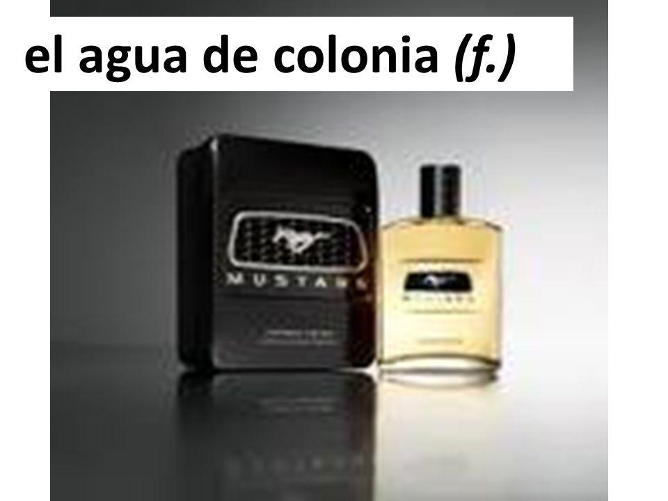 el agua de colonia (f.)